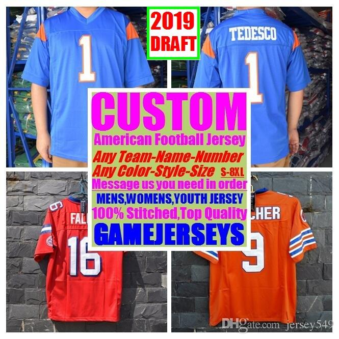953c8be623c 2019 Custom 2019 Draft College American Football Jerseys Womens Youth Kids  Mens Big And Tall Stitched Authentic Jersey 4xl 5xl 6xl 7xl 8xl Gear From  ...