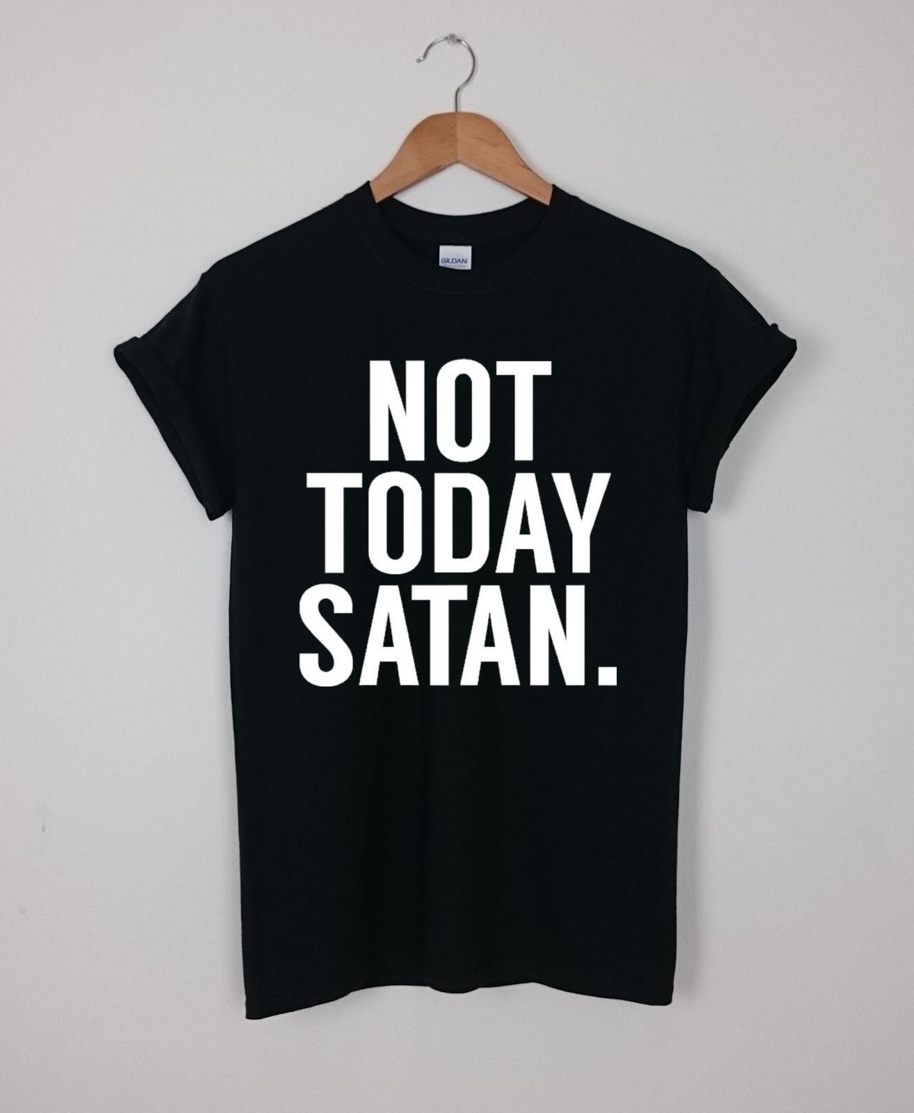 34e79edaa Compre Não Hoje Satanás T Shirt Top Engraçado Tumblr Coração Hipster Blog T  Das Mulheres Unisex Medo Cosplay Liverpool Tshirt Mens Orgulho T Shirt  Escuro De ...