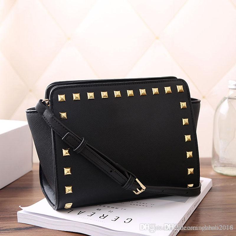 0d440b8a1b Hot 2018 Designer Luxury Handbags Purses Ladies Shoulder Bags Rivet Smiley  Bag Simple Messenger Bag 3038D Leather Purses Cheap Designer Handbags From  ...