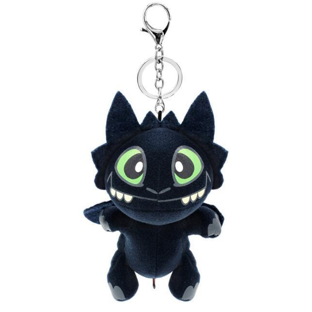 17cm How to Train Your Dragon 3 Plush Pendant Toy Movie Toothless Black Dragon Stuffed Doll Cartoon Keychain Novelty Items CCA11312 30pcs
