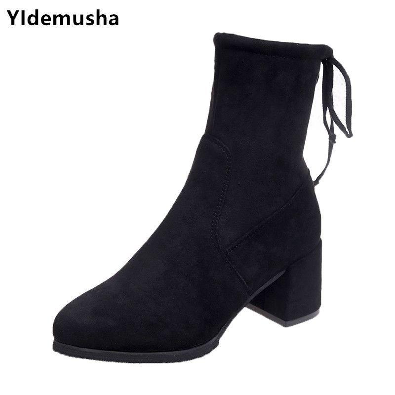 778829d605 Compre Zapatos De Vestir De La Venta Caliente Del Dedo Del Pie Puntiagudo  Tacones Altos Mujeres Otoño Invierno Casual Casual Mujer Sola Moda Outwear  Botas ...