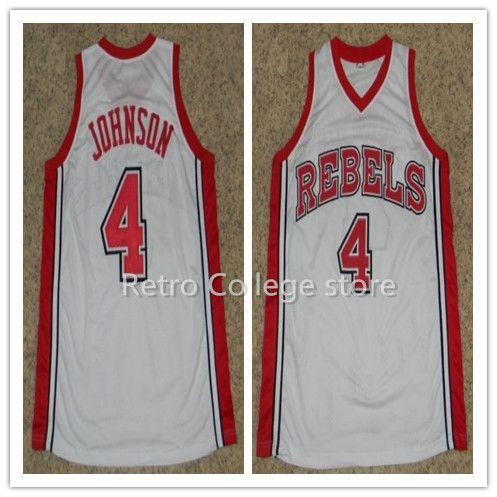 reputable site 6fb91 88e7c #4 LARRY JOHNSON #50 Greg ANTHONY #32 Stacey AUGMON UNLV RUNNIN REBELS Top  college basketball jerseys Customize any size n XS-6XL vest Jerse