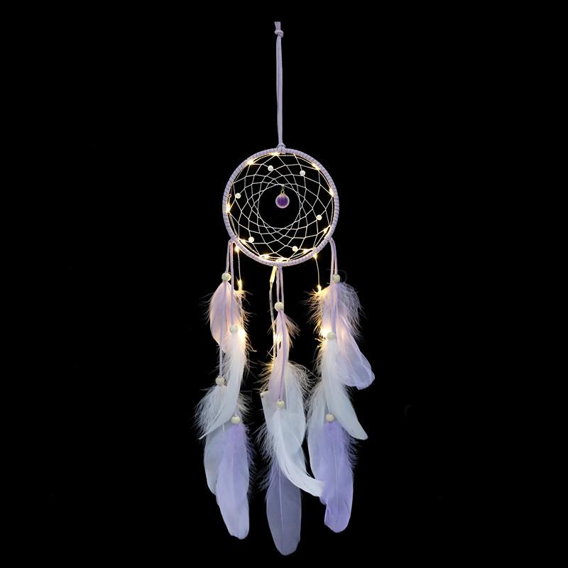 26f212b8c4cef Ins Creative Indian Retro Dream Catcher Net Car Rearview Mirror Decoration  Car Ornaments Wind Chimes Feather Pendant Handmade Gifts Car Interior  Accessory ...
