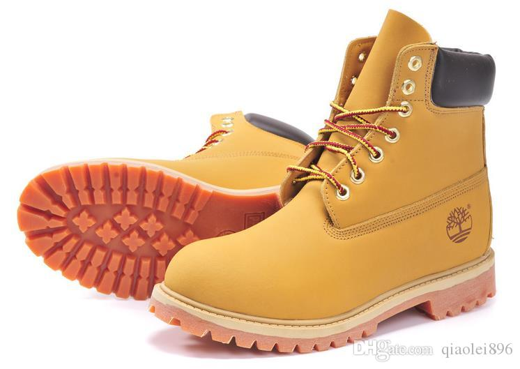 bb1822180ac3 TIMBERLAND Boots Brand Men S And Women S Motorcycle Boots Waterproof  Outdoor Boots Cowhide Leather Hiking Shoes Leisu Wedge Booties Boots Sale  From ...