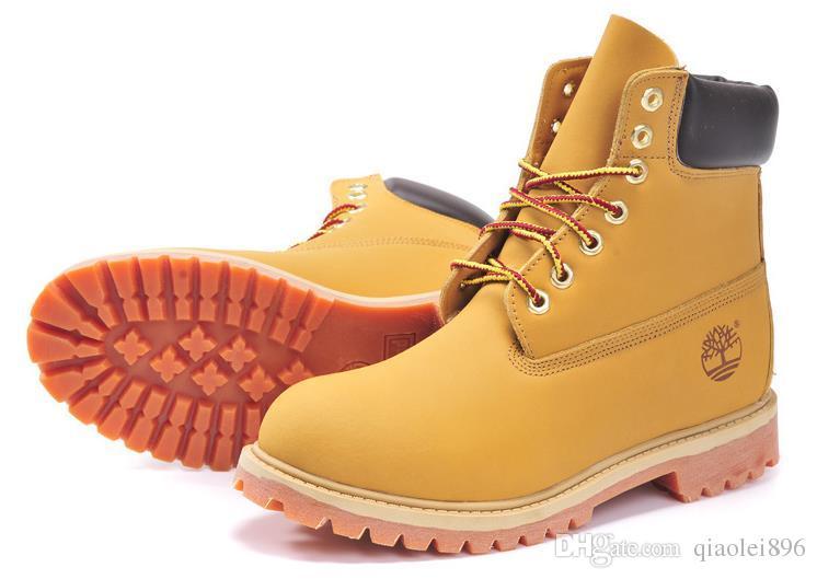 bb0fa9d42c Compre TIMBERLAND Botas De Marca Para Hombre Y Para Mujer Botas De Moto  Impermeables Botas De Cuero De Vaca Zapatos De Senderismo De Cuero De Vaca  Envío ...