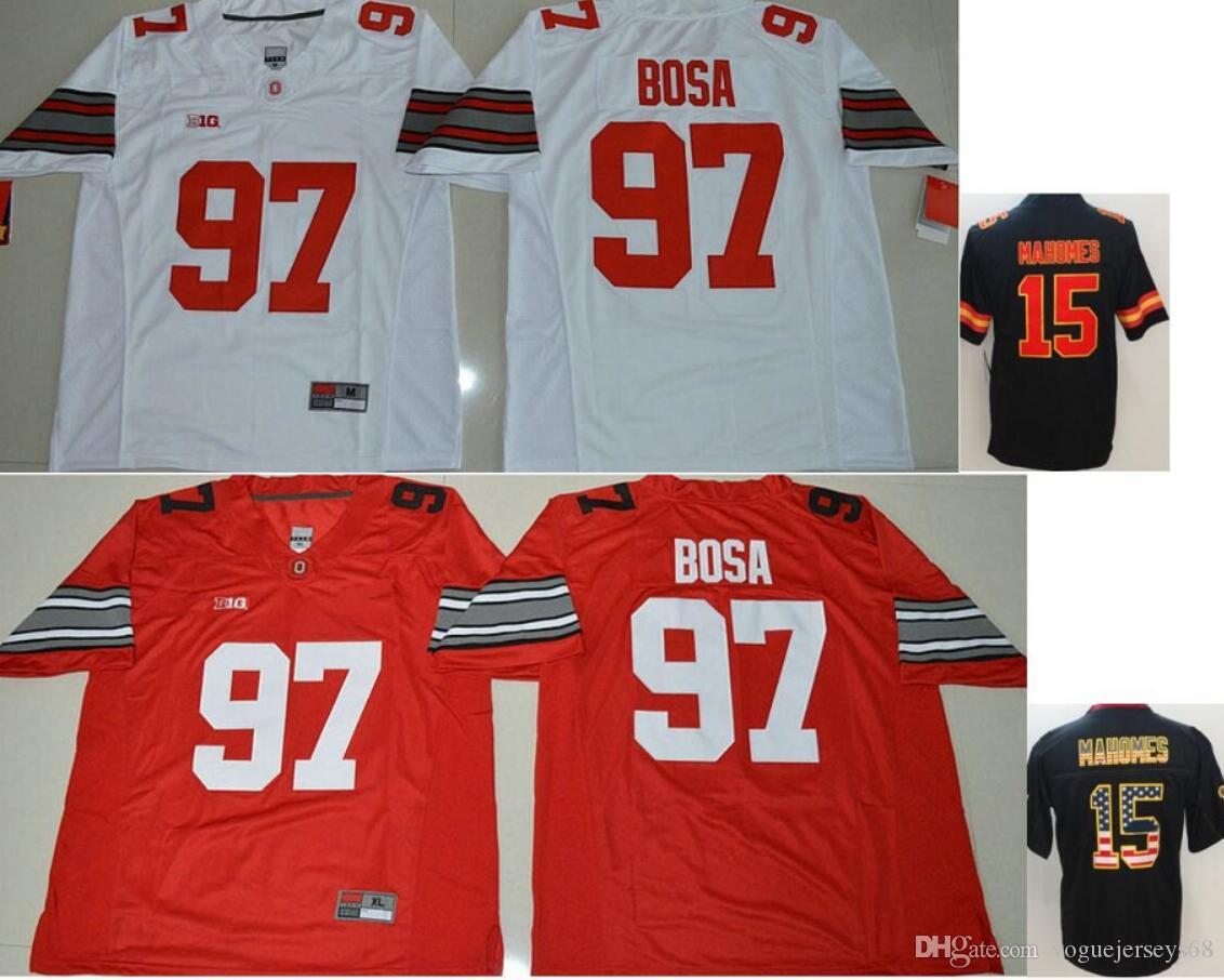 Mens Ohio State Buckeyes College  97 Joey Bosa Kansas Color Rush ... f6eecbec4