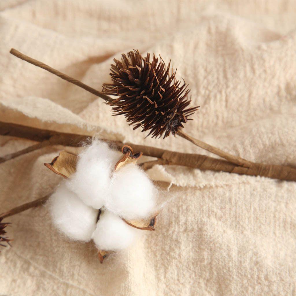 Artificial Naturally Dried Cotton Stem Farmhouse Flower Filler Floral Home  Decor Home Garden Decoration Fake Plant DIY MAR15