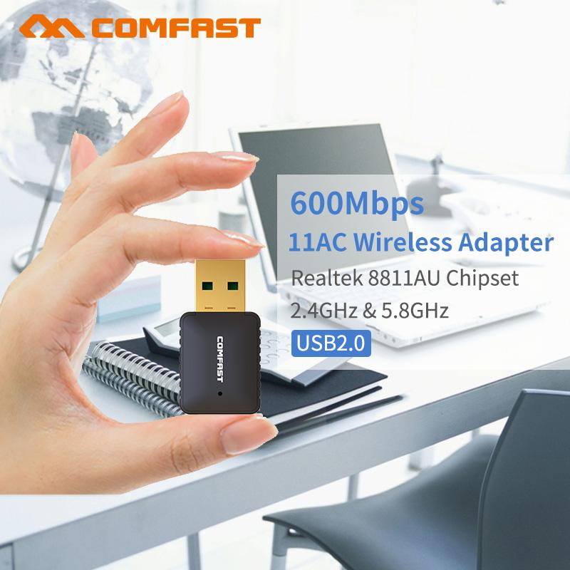 5 8Ghz Wifi Adapter AC 600Mbps Dual Band Auto-Install USB Adapter 802 11 ac  ethernet Access Point Network Card wi-fi receiver