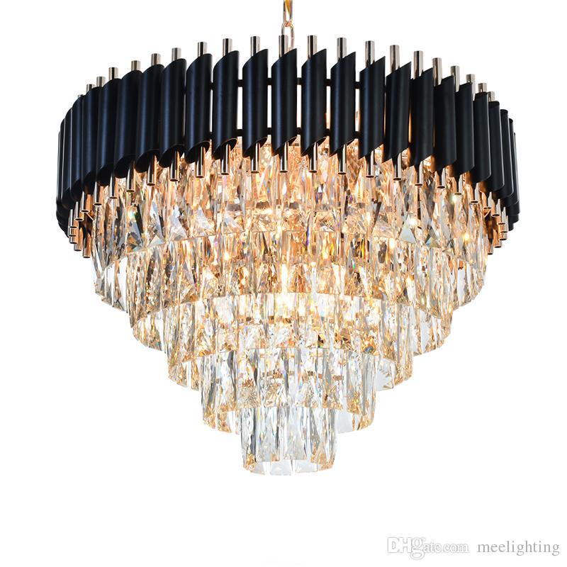 Qualité En Bonne Restaurant Cristal Pour Style Suspendus Américain Lustre Éclairage Luminaires Suspension K9 Lampe CsdthxQr