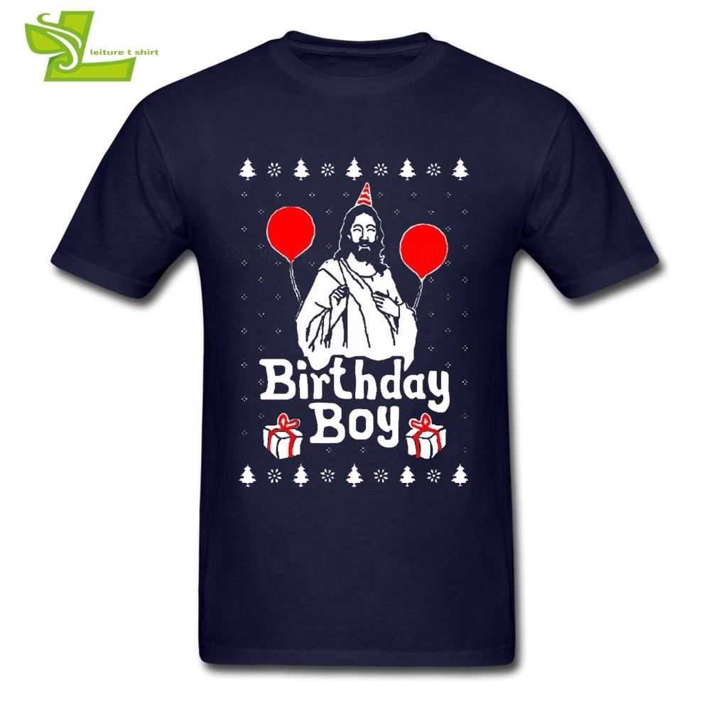 Grosshandel Birthday Boy Jesus Weihnachten T Shirt Mann Kurzarm 100 Baumwolle Graphic Mannliche Neue Ankunft Ubergrosse Tops Teenboys Von