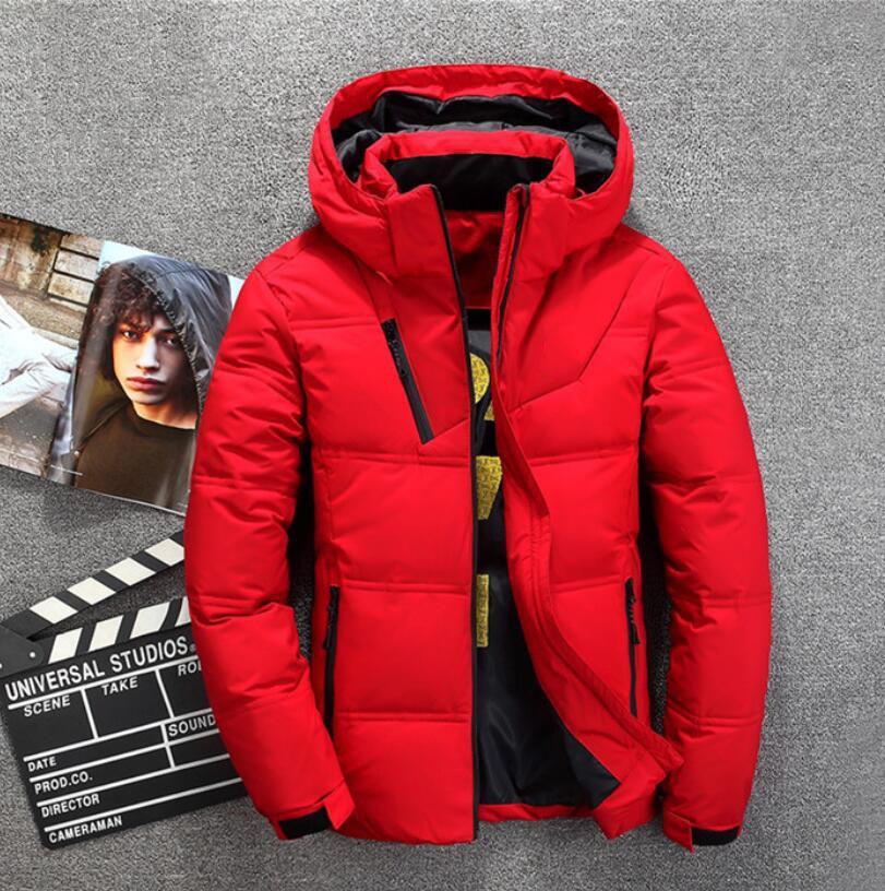 low priced ce4b7 e0fa2 Piumino invernale uomo Doudoune Homme manica lunga colore puro cappotti  Giacca a vento da uomo addensare cappotti caldi