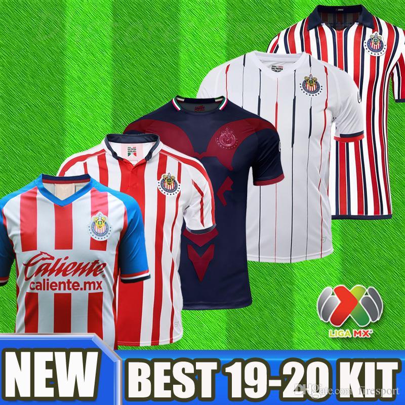 buy popular d312e 11cf8 New 2019 2020 LIGA MX Club Chivas de Guadalajara Soccer Jerseys Kit 18 19  20 Camisa de Futebol Home Third Jersey A.PULIDO Football Shirts