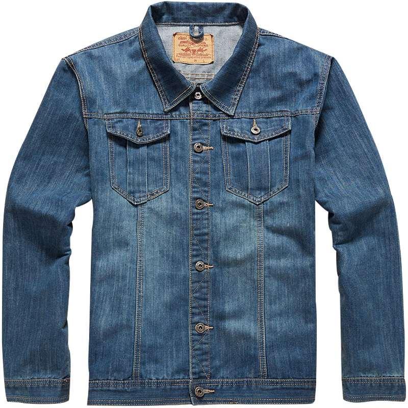 8f028a6b60d Jeans Jacket Men Autumn Spring Classic Plus Size 7XL 6XL 5XL 4XL 8XL  Oversize Coat Stand Collar Casual Fashion Mens Denim Jacket Fashion Mens  Jackets Coats ...