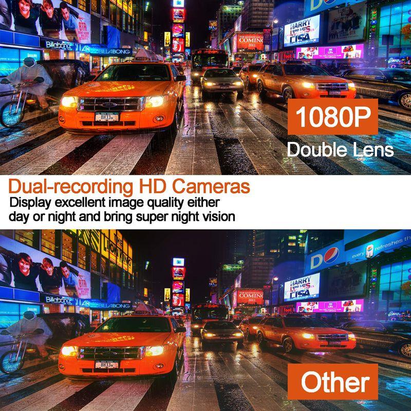 10 polegadas vista de carro DVR espelho retrovisor HD Multimedia Auto Espelho Com 1080P Dual Lens cartão de 32GB SD Camcorder Traço