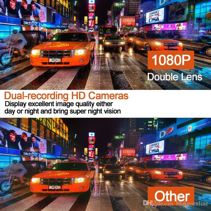 10 pollici dell'automobile DVR retrovisore HD Multimedia Auto specchio con 1080P con doppio obiettivo SD Card da 32 GB Dash Videocamera