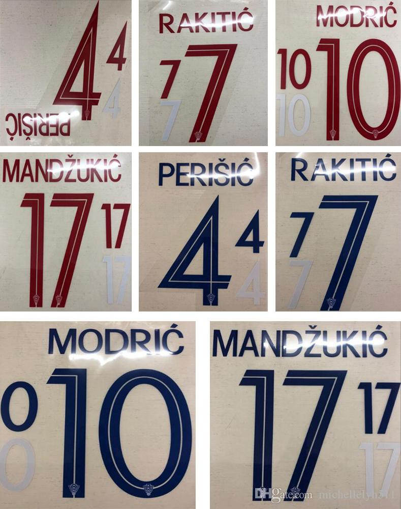 2bc7ad6d459 18 19 Croatia blue printing nameset PERISIO MODRIC soccer player s stamping  sticker hot printed football letters red impressed soccer badges