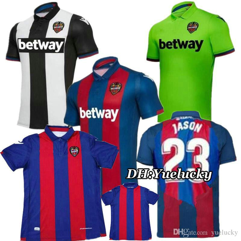62b1080ce 2019 18 19 Levante UD Home Soccer Jersey SIMON PRCIC 2018 2019 Spain Club  Levante Away BARDHI ROGER MS. A.J. MORALES J. CAMPANA Football Shirt From  Yuelucky ...