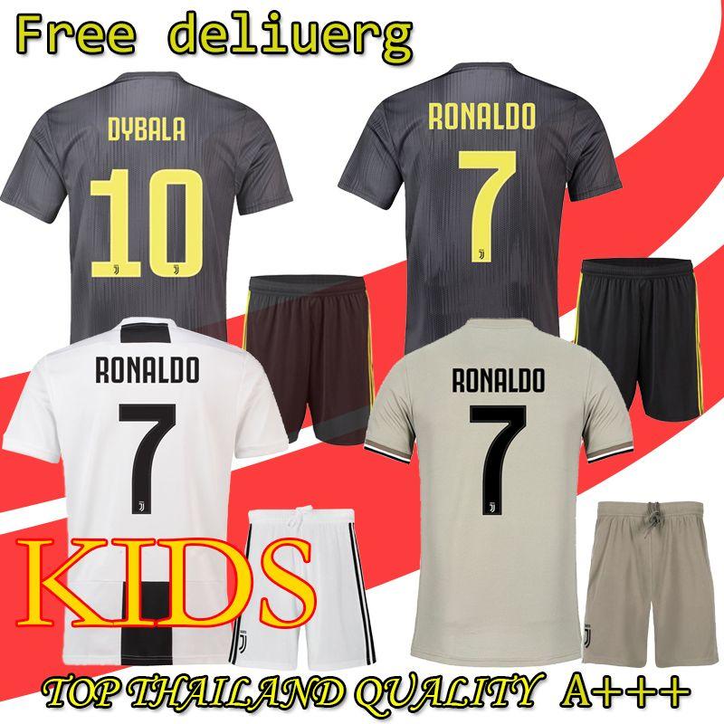 best sneakers fa6ba e5e9f 2019 RONALDO kids Soccer Jersey 18 19 2018 Home Away DYBALA HIGUAIN  Football Shirt CRISTIANO Uniform Team