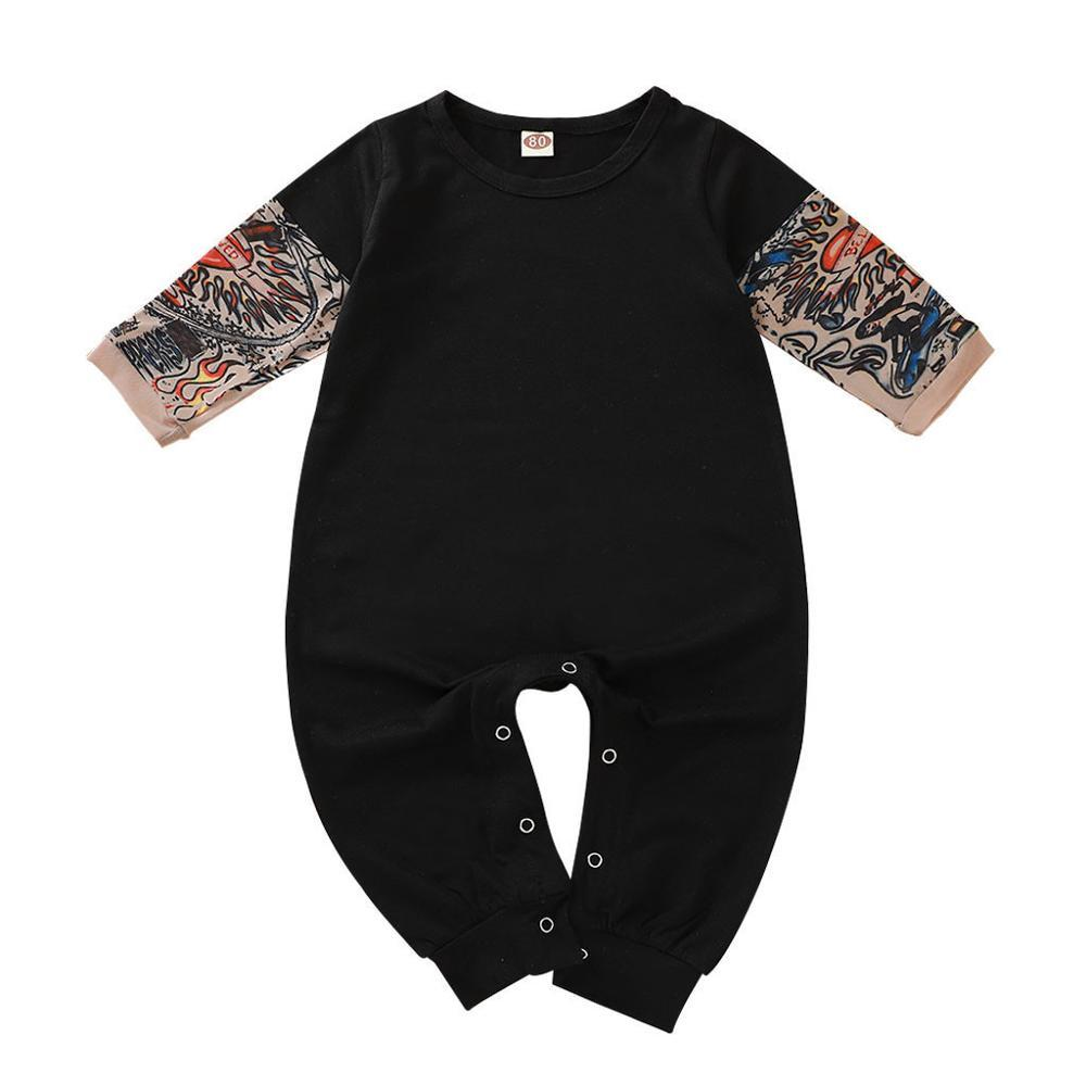 Fasenix Funny Bear Wearing Glass Garland Newborn Baby Boy Girl Romper Jumpsuit Long Sleeve Bodysuit Overalls Outfits Clothes