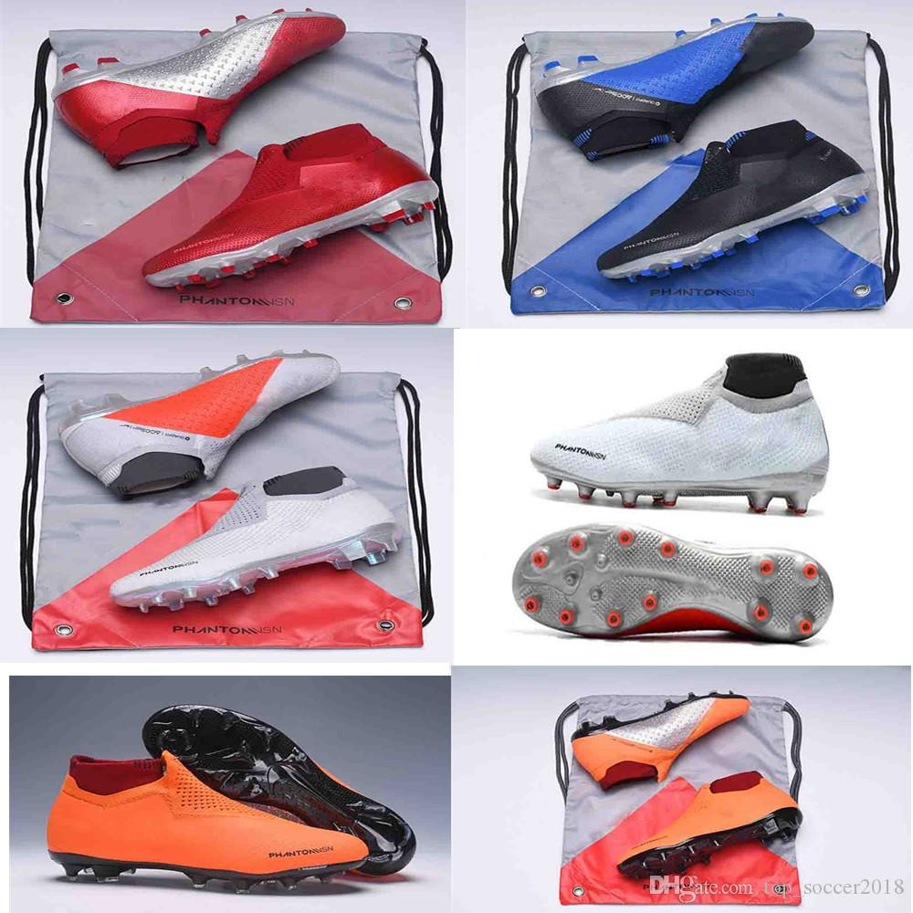 364237e9c 2019 2018 Mens Soccer Cleats Phantom VSN Elite DF Outdoor Soccer Shoes X EA  Sports Phantom Vision Football Boots Phantom Vision Elite DF FG From ...