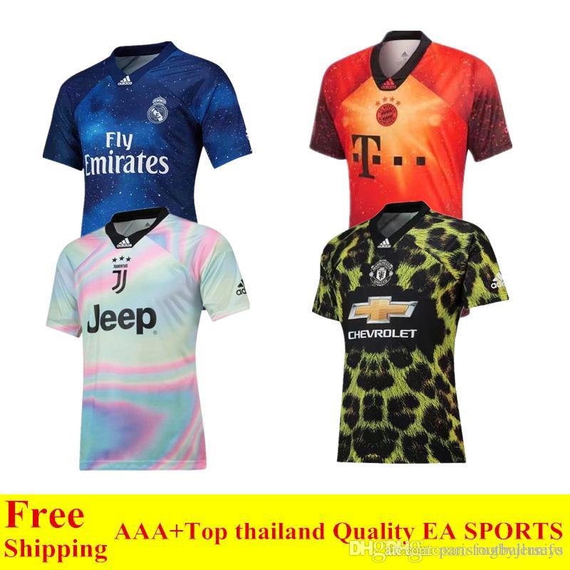 info for 39698 3929d 10 pcs Free Shipping DHL new 2020 EA SPORTS jersey Ronaldo Juventus soccer  jerseys Man United Bayern Real Madrid Modric blue football shirts