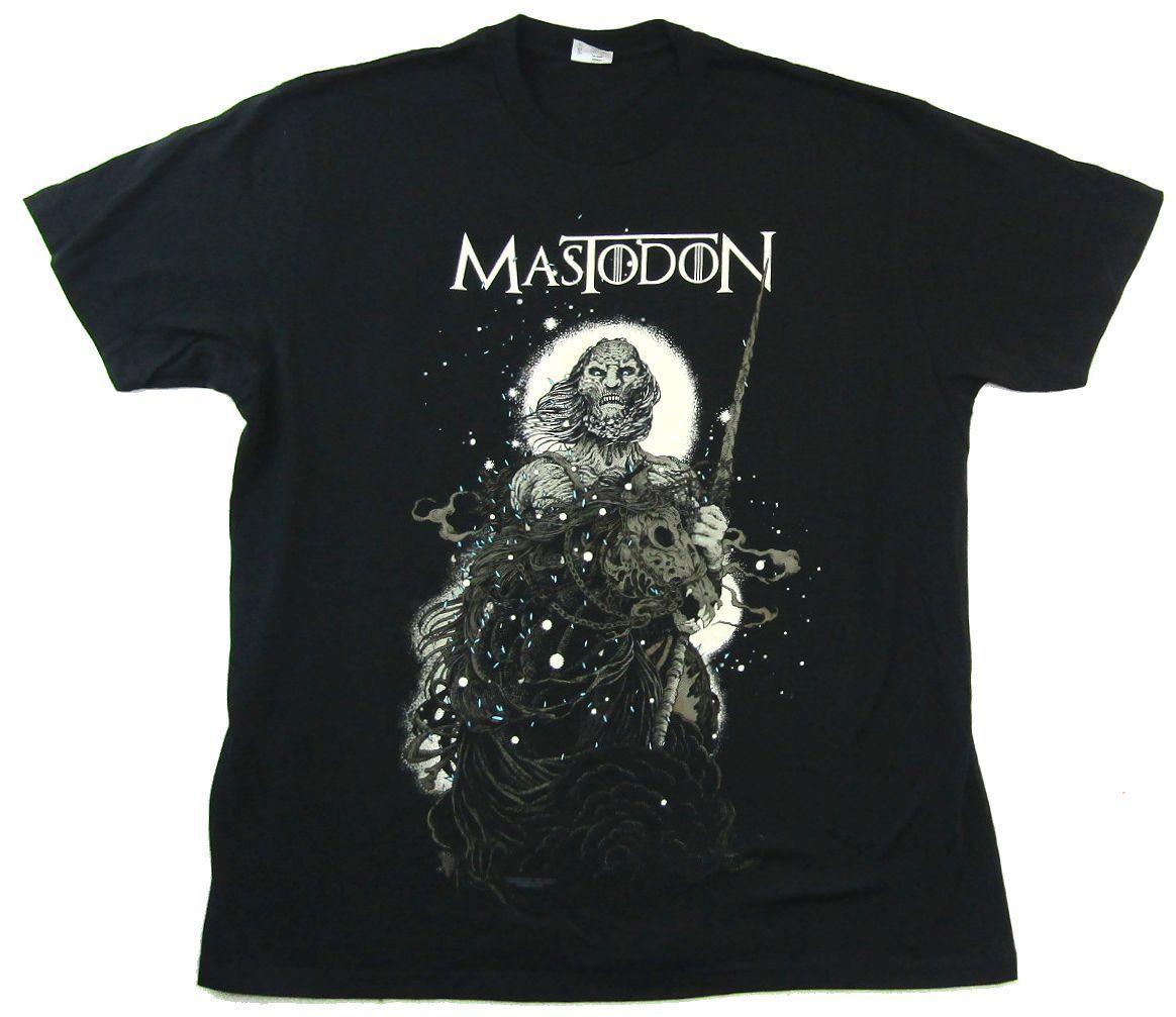 5ba0d7cbf Mastodon White Walker Black T Shirt New Official Band Merch Summer Hot Sale  ,New Tee Print ,Men T Shirt Top , Long Sleeve Tee Shirts Design Your Own T  ...
