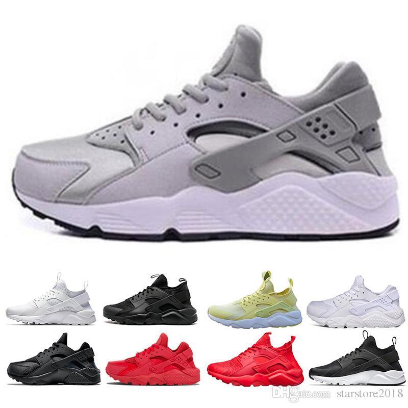 official photos c818f 8bf3b 2019 Cheap Huarache Ultra Run shoes triple White Black Red men women  Running Shoes yellow grey Huaraches sport Shoe Mens Womens Sneakers