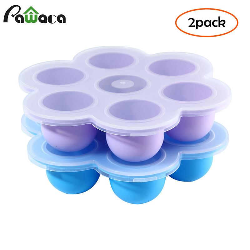 2pcs/set Silicone Egg Bites Molds For Accessories - Fits Instant Pot 5,6,8 Qt Pressure Cooker Ice Cube Tray With Lid Q190524
