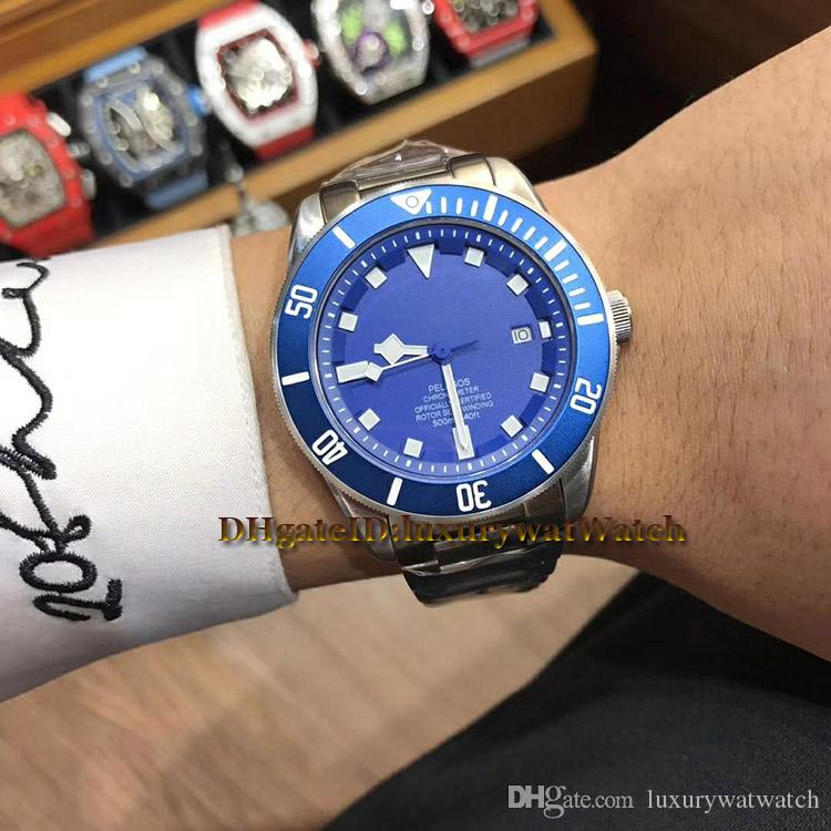Brand New Cheap 3 Style 42mm 25600TN Steel Case Blue Dial Japan Miyota 8215 Automatic Mens Watch PELAGOS 25600TB Sports Watches TOP Quality