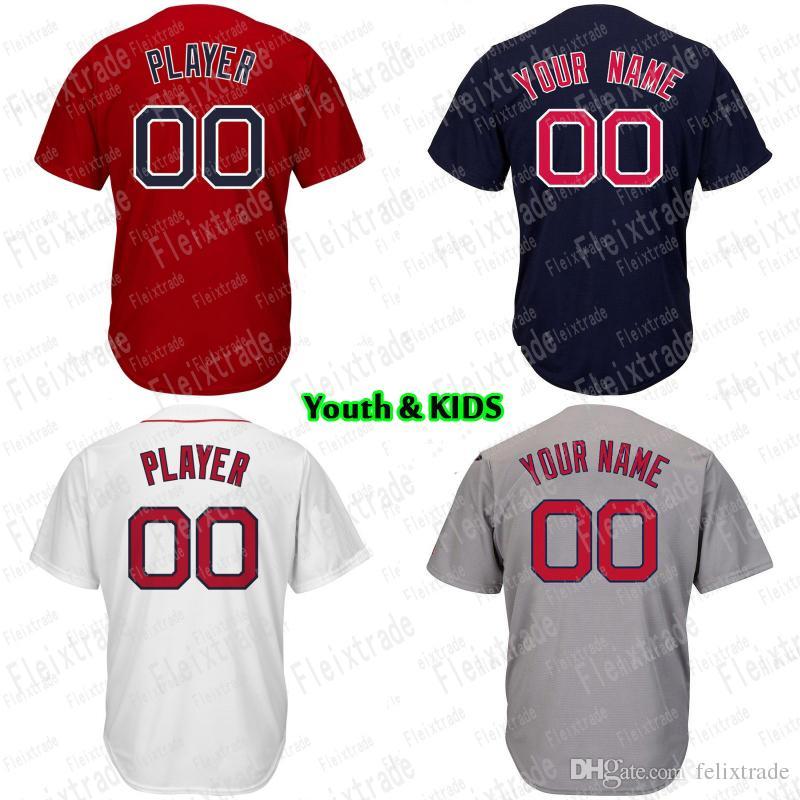 premium selection 214b1 b3f1a Youth KIDS Boston Mookie Betts Andrew Benintendi David Ortiz J.D. Martinez  Dustin Pedroia Jackie Bradley Jr. Chris Sale Baseball Jersey
