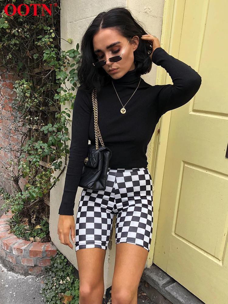 f517ffa9595db 2019 OOTN Women Bodycon Shorts Black White Checkerboard Shorts Female High  Elastic 2019 Summer Spring Bike Sexy Bottom Fashion From Trousseau, ...