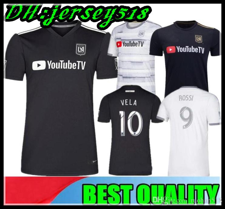f88fc3b35 2019 19 20 Los Angeles Fc Black HOME Soccer Jersey VELA BLESSING ROSSI  GABER ROSSI 2019 LAFC Carlos Vela Away White Football Shirt From Ruohan518