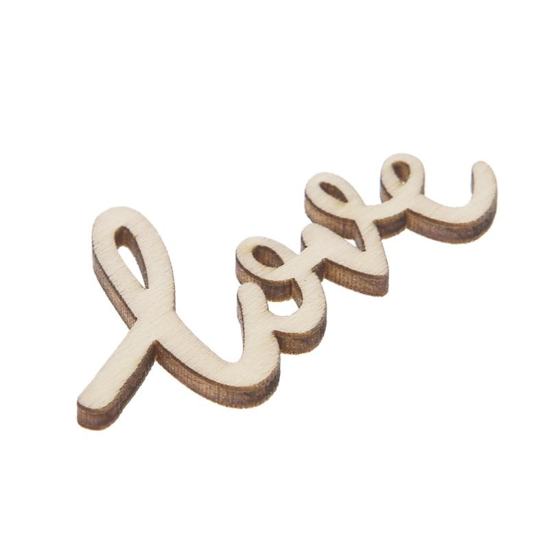 Wooden LOVE Table Confetti Scatter Vintage Rustic Wedding Party Decor Wedding Ceremony