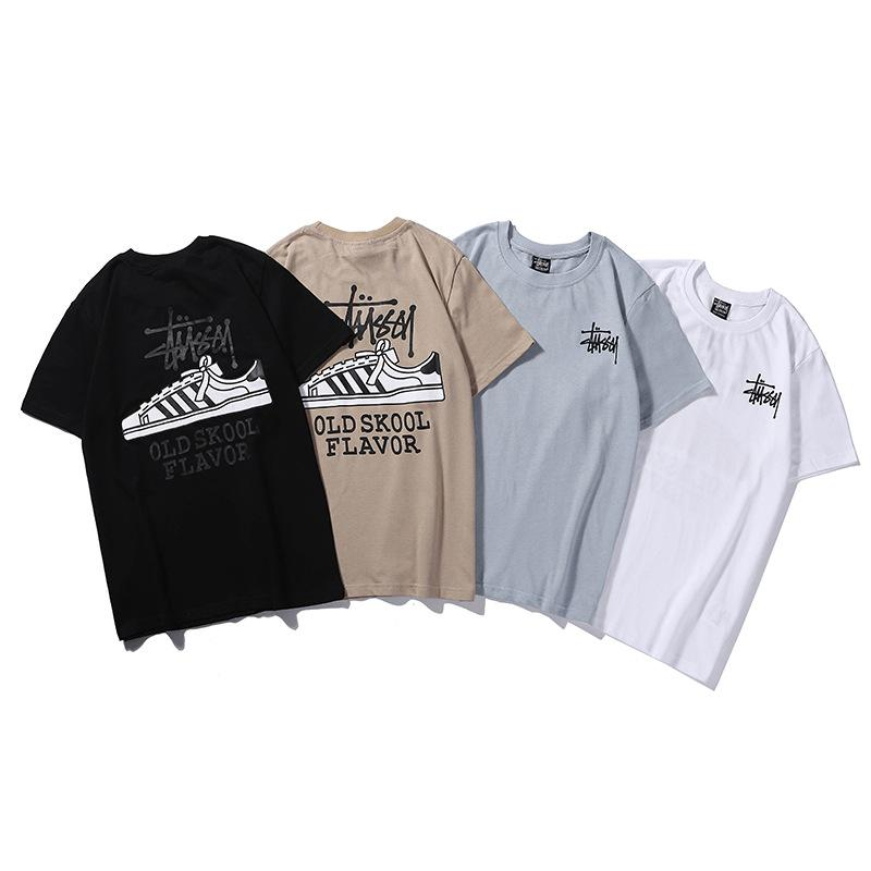 b139d3fe1d2 Couple T Shirt 19ss The New Shell Shoes Letter Printing Short Sleeve Cotton  Fashion Wild Half Sleeve New Style Tees Cool T Shirts From Raxh