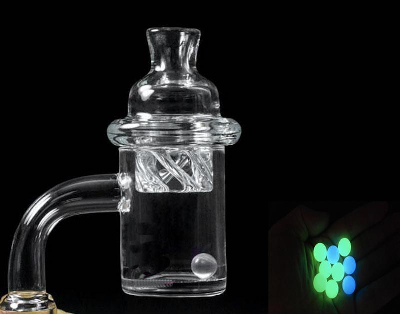 Dhl Free !! Quartz Banger with Spinning Carb Cap and Terp Pearls 10mm 14mm 18mm Male Female Thick Banger Nail for Dab Rig Bong In Stock