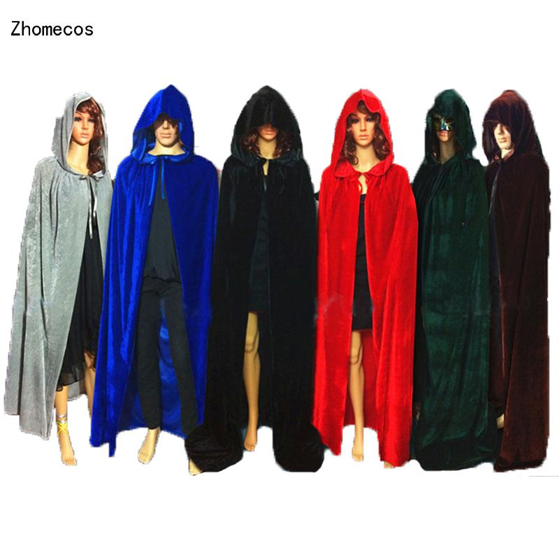 Home Holiday Carnival Kids Children Boys Girls Adult Witch Long Medieval Cloaks Hood And Capes Halloween Costumes For Women Men Fancy