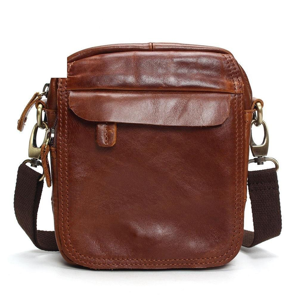d7566c43ed06 Vintage Cow Genuine Leather Messenger Bags Men Travel Business Crossbody  Shoulder Bag For Man Sacoche Homme Bolsa Masculina Bags Online with   99.0 Piece on ...