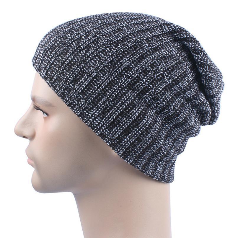 2019 Muqgew 2017 Hot Solid Unisex Winter Knit Wool Ski Beanie Baggy