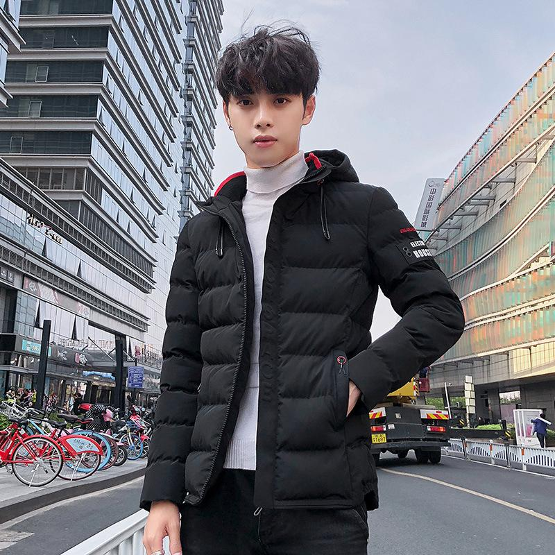 8ba1e4c02 2019 Winter New Style Men's Thick Padded Korean-Style Fashion Trend Hooded  Coat Leisure Warm Cotton-Padded Jacket Factory Pin