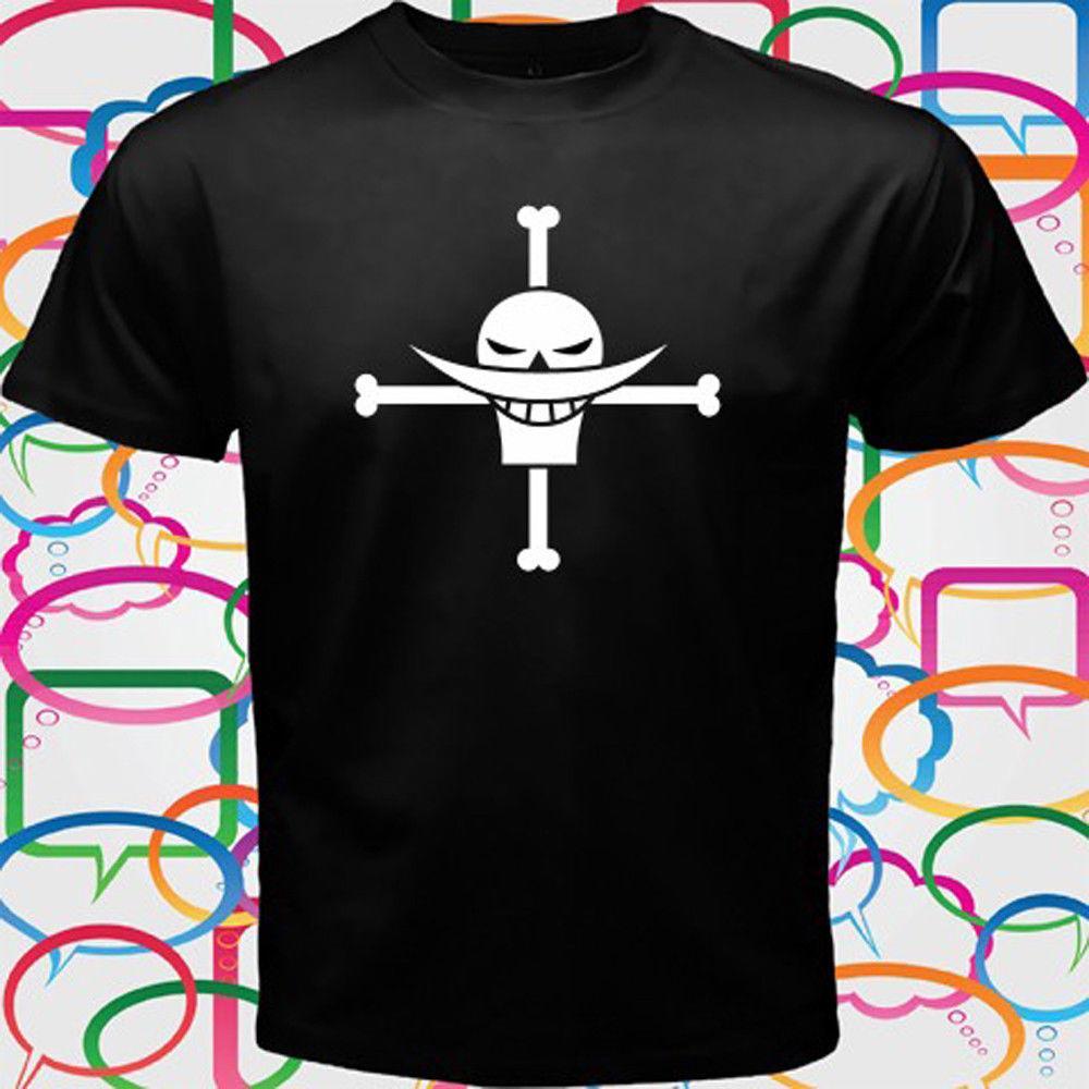 c0a897e71 One Piece Whitebeard Luffy Pirates Anime TV Men's Black T-Shirt Size S to  3XLMen Women Unisex Fashion tshirt Free Shipping
