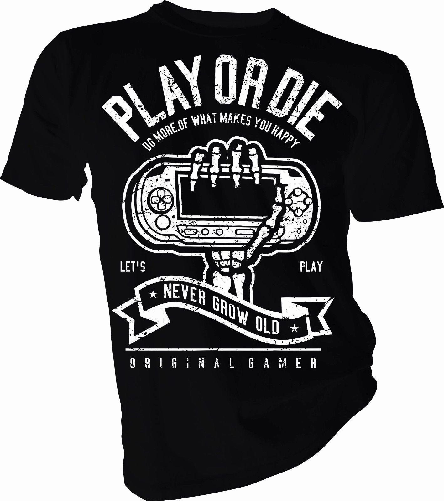 Compre Psp Play Or Die Playstation Juego Juegos Ps4 Camiseta
