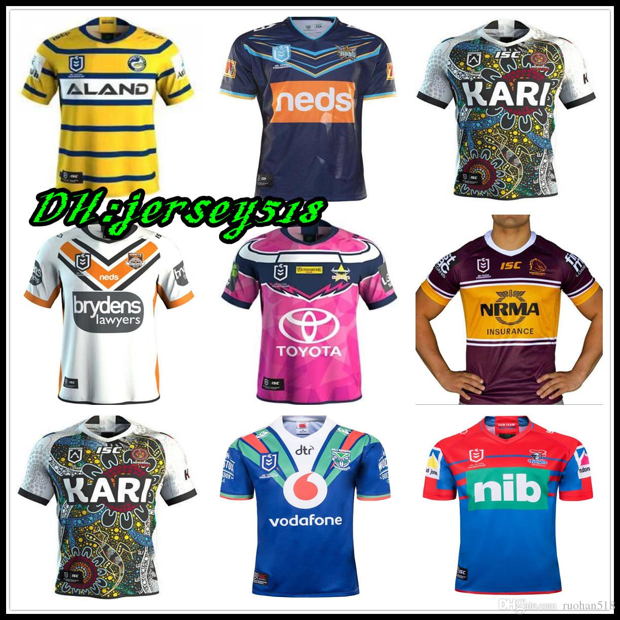 eba2ffc57729 2019 2019 20 NRL RUGBY JERSEY PARRAMATTA EELS Maroons Malou JERSEY Brisbane  Titans Raiders Broncos NRL Rugby League Manly West Tigers Cowboys From  Ruohan518 ...