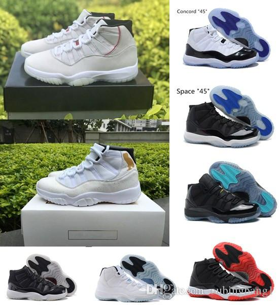 cffe28bf211a09 Platinum Tint 11s OVO Prom Night Basketball Shoes 11 Men Women Cap And Gown  Gym Red Space Jam Concord 23 45 PRM Heiress Bred Gamma Blue Shoes Brands ...