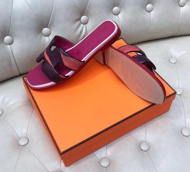 a82c7485 Compre Sandalias De Diseño Sandalias De Mujer Diapositivas De Diseñador  Marca Moda Sandalias De Rayas Causales Verano Huaraches Zapatillas Chanclas  ...