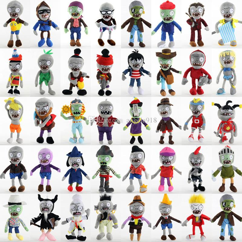 40 Styles Vegetable Plush Dolls Toys 30cm Classic Game Dolls Zombie Stuffed Toys Funny Simulation Kids Gift L407