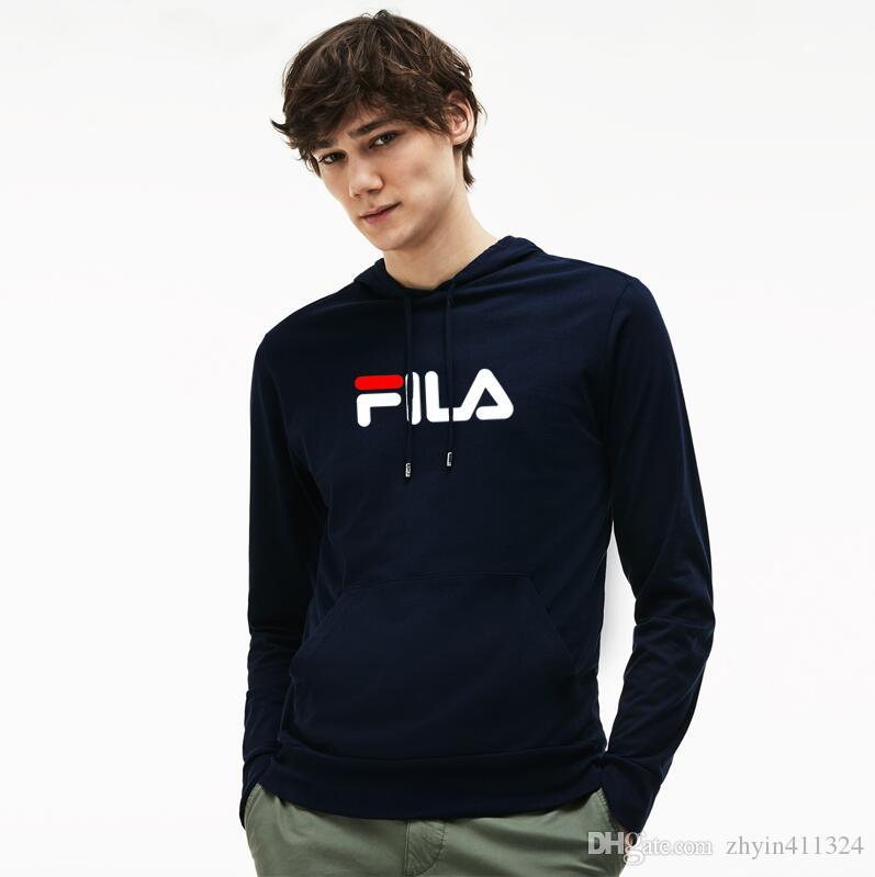 ddfe0e6f2d 2019 new Very good quality nice hip FILA with fleece warm winter mens kanye  west hoodie sweatshirt swag solid Olive pullove