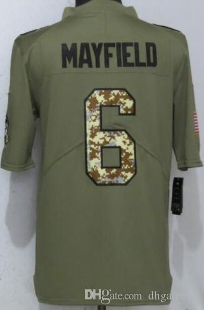 Maillot Homme Cleveland 6 Hommes Chemises Adulte brodé et 100% couture Olive Salut to Service Limited maillots de Football