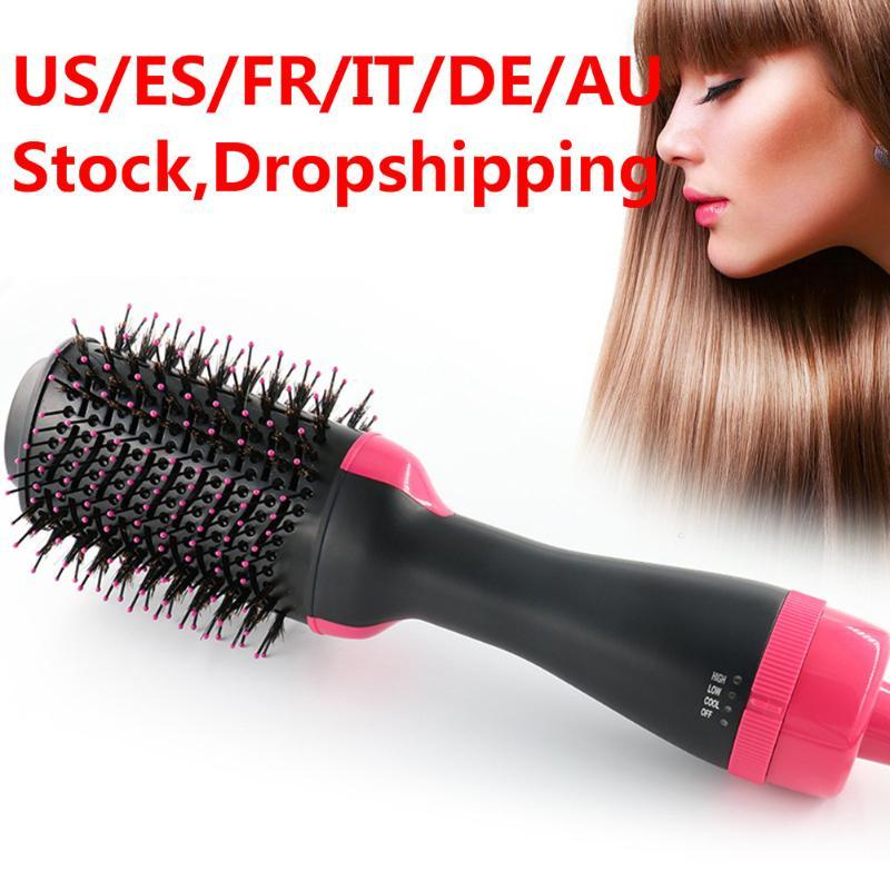 2 in 1 Multifunctional Hair Dryer&Volumizer Rotating Hair Brush Roller Rotate Styler Comb Straightening Curling Hot Air Comb