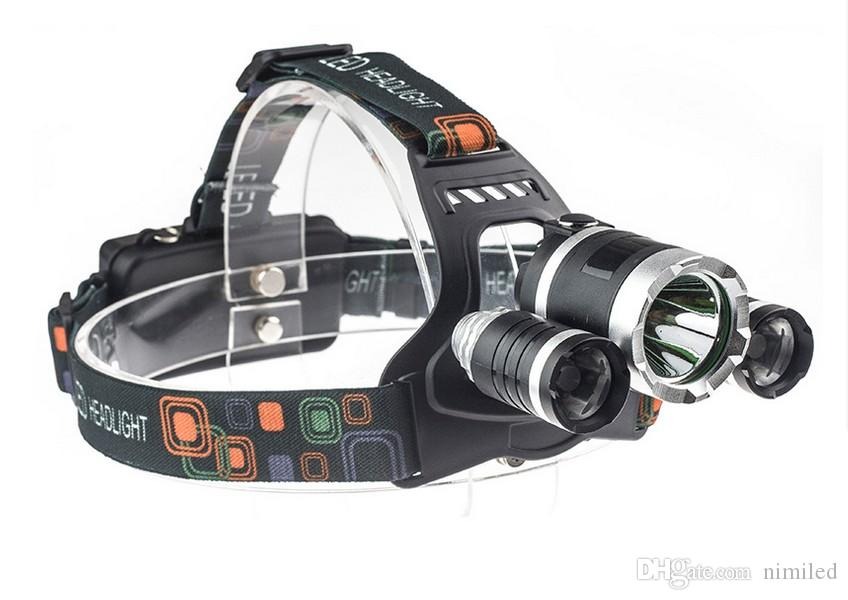5 LED Headlight 8000 Lumens Cree XM-L T6 Head Lamp High Power LED Headlamp +2pcs 18650 Battery +Charger+car charger LLFA