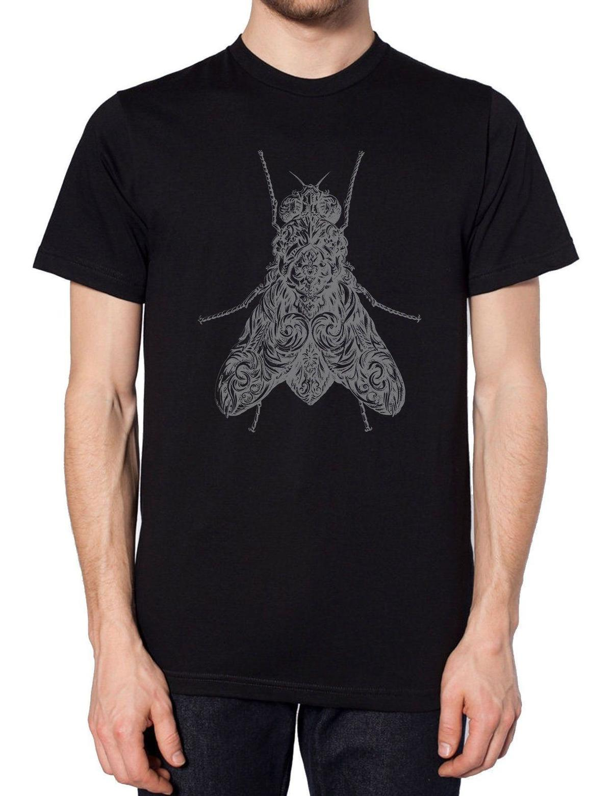Fly Black T Shirt Moda Aztec Insect Dark Style Moda Grunge Rat Style Indie Mens 2018 marchio di moda T Shirt O-Collo